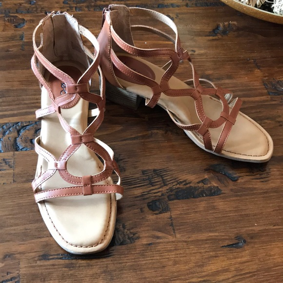 boc Shoes - boc Cuoio Tan Pecan Leather Sandals EUC